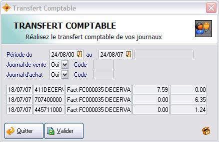 Le transfert comptable dans ApiSoft Gestion Commerciale Huit