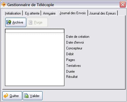 Gestionnaire de téléphonie d'ApiSoft Gestion Commerciale Huit