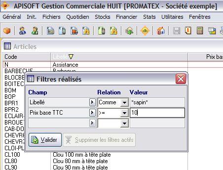étiquettes code-barres dans apisoft gestion huit
