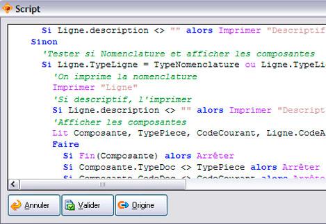 langage de script dans apisoft gestion commerciale huit