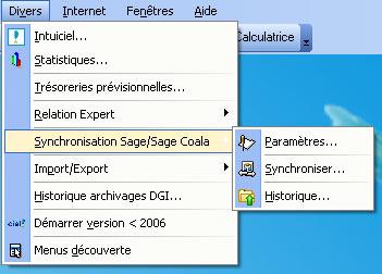 synchro compta dans ciel compta evolution 2007