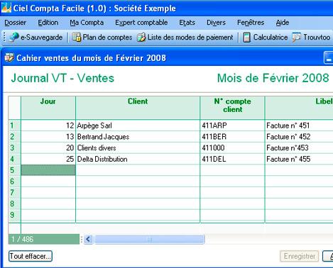 Saisie comptable dans Ciel Compta 2008 Facile