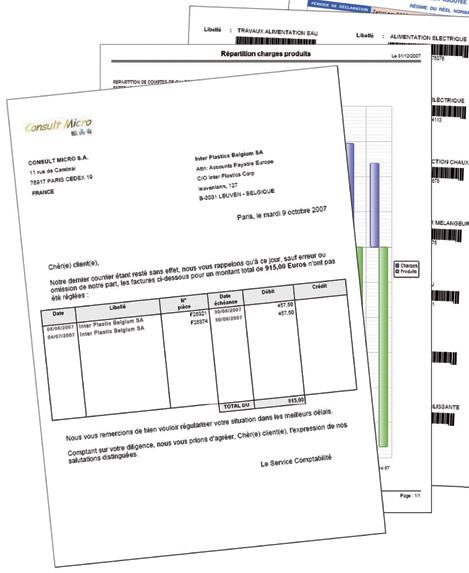 états imprimés avec le générateur de documents d'un logiciel Ciel Evolution 2008