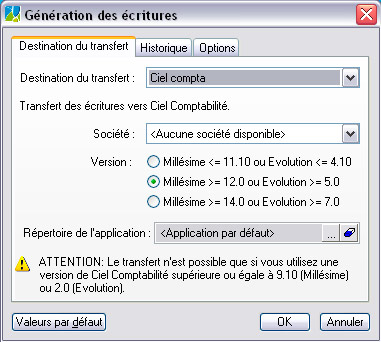 Ciel Facturation Facile�: Export en comptabilit� (6)