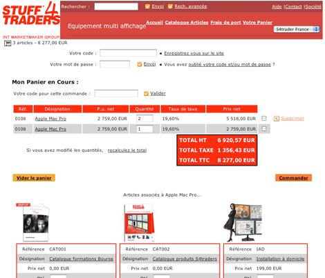 Exemple de site web marchand fait avec Ciel Quantum *