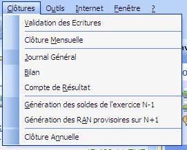 ebp compta 2007: menu de validation des écritures