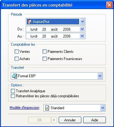 ebp gestion commerciale 2007: transfert des pièces