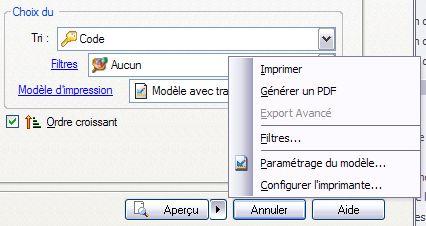 ebp gestion commerciale 2007: export des impressions