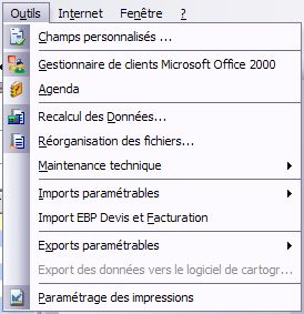 ebp gestion 2007 : import ebp devis et facturation