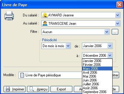 livre de paye dans ebp paye 2007