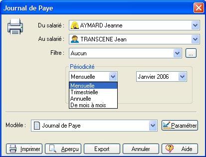 ebp paye 2007: journal de paye