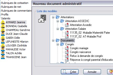 ebp paye pro v11 : cr�ation d'un document administratif