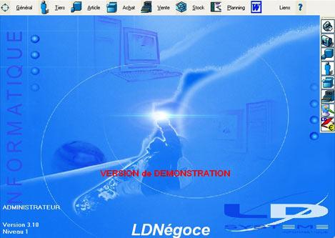 logiciel de gestion commerciale LDN�goce de LD Syst�me