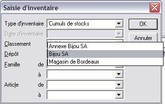 Sage gestion commerciale 30 v12: saisie d'inventaire