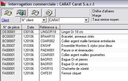 Sage gestion commerciale 30 v12: interrogation commerciale client