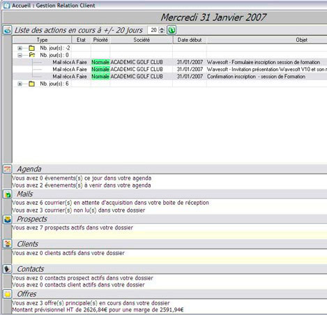 WaveSoft GRC&#160;: gestion de la relation client