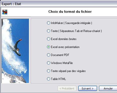 wavesoft gestion commerciale: export d'un état