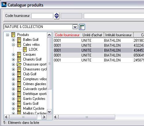 WaveSoft Gestion Commerciale: catalogue produits