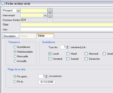WaveSoft GRC�: Programmation automatique d'actions r�p�titives (r�unions, rappels, etc.) (12) -- 06/05/08