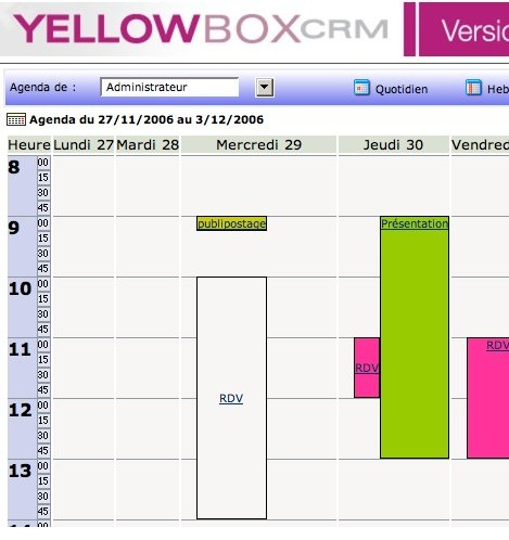 YellowBox CRM�: Une solution CRM portable et personnalisable�! (1) -- 03/12/06
